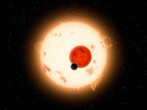 Suche nach Exoplaneten: Kepler 16 Transit. (NASA/JPL-Caltech/R. Hurt)