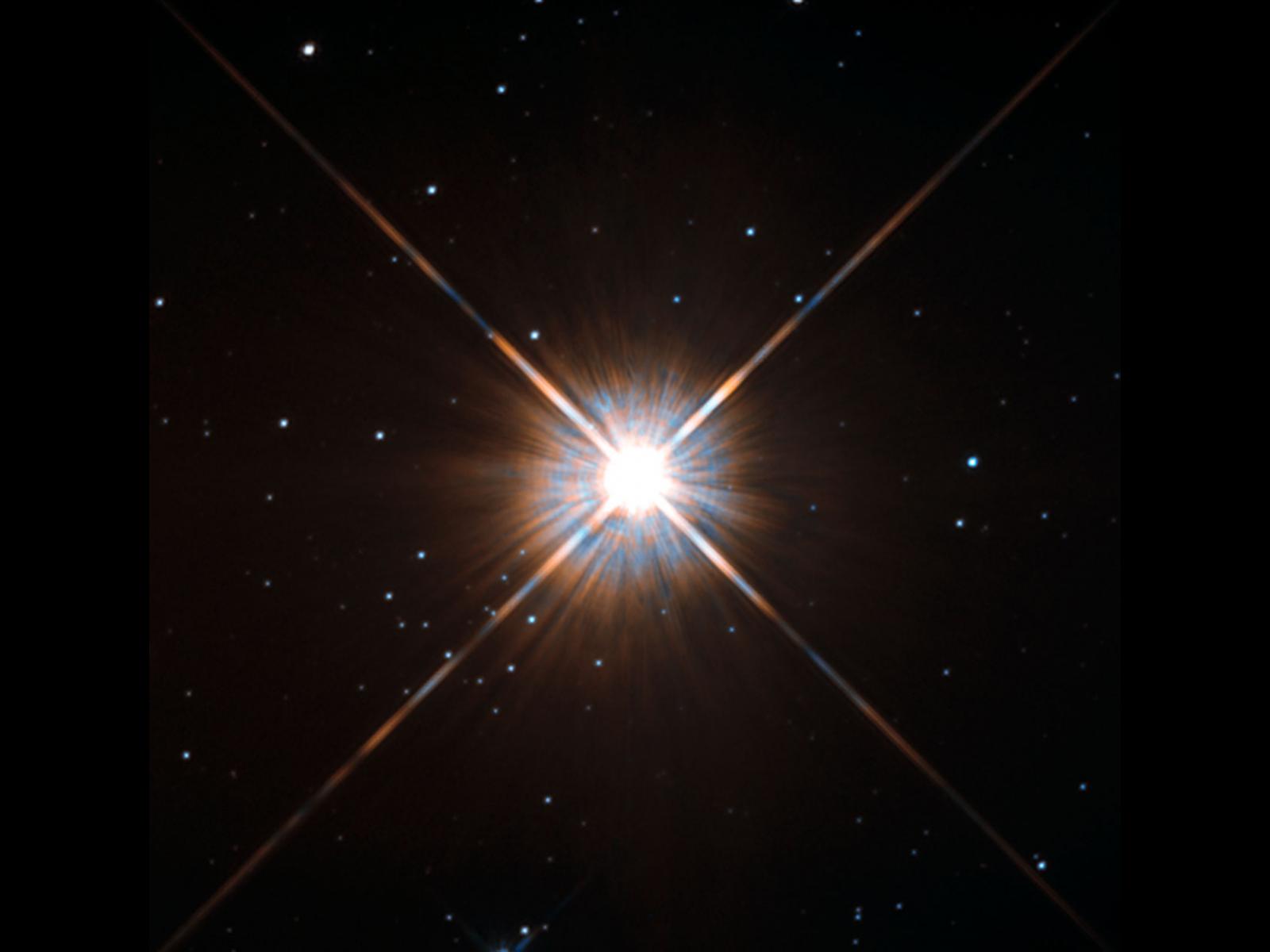 Der nächste Nachbarstern unserer Sonne: Proxima Centauri, aufgenommen vom Hubble Space Telescope.