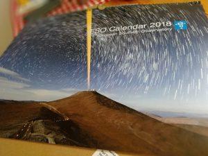 Der Kalender der Europäischen Südsternwarte (ESO) für das Jahr 2018.